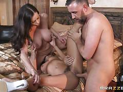 Adriana chechik and kendra lust ffm threesome