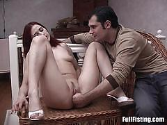 Raunchy redhead fisted