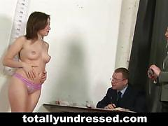 Naked job interview for sizzling secretary