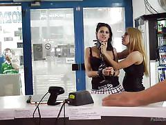 mistress, whipping, slave, humiliation, pussy licking, babes, buttplug, public disgrace, outdoors, public disgrace, kink, conny dachs, coco de mal, steve holmes, nikki thorne