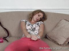 erotic, the female orgasm.com, brunette, butt plug, clit rubbing, climax, fingering, masturbation, natural tits, solo, strip tease, tight ass, shaved pussy