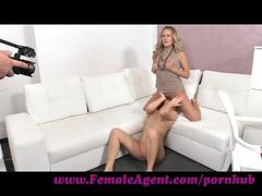 lesbian, femaleagent.com, hd, blonde, tight ass, small boobs, young, pussy licking, orgasm, clit rubbing, bubble butt