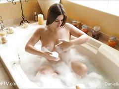 Danielle ftv - bubble bath boobs and butt