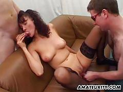 Threesome fuck for hot milf