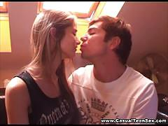 Casual teen sex with blonde teen