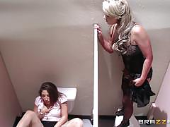 Bad employee abella danger gets caught masturbating by phoenix marie