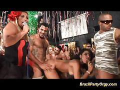 Brazilian babes enjoy group fuck