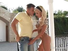 Paradise films stunning busty blonde babe