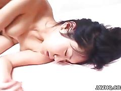 Eri minami moans while drilling her tight cunt