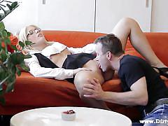 Nerdy alice gives in to horny partner