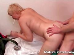blonde, mature, milf, ass, cumshot, doggy style, more