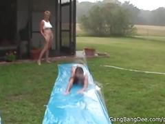 Slutty slip n slide