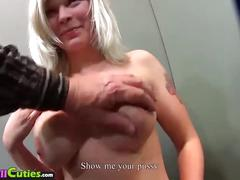 Mallcuties - young amateur czech girls fucking on public