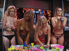 Blonde bitches have fun at the morning show @ season 15 ep. 722