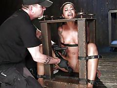 Ebony slut gets tortured