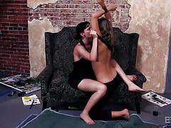 milf, big ass, lesbians, babe, kissing, undressing, pussy eating, pov, bskow, dana dearmond, chastity lynn