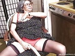 granny, glasses, saggy tits, blowjob, dildo, undressing, gray hair, outrageous grannies, big bertha
