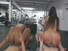 Several big butt pornstars group fucking