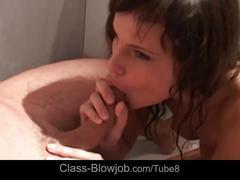 blowjob, class blowjob.com, oral sex, cock sucking, ball licking, bath tub, brunette, blow job, natural tits, handjob, deepthroat, cumshot, jizz swallowing, facial, hd