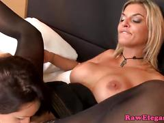 Euro lesbian licking glamcore babes pussy