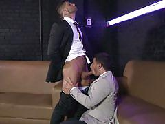 Horny gays find pleasure after work