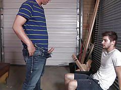 tattoo, students, gays, garage, undressing, pov, gay blowjob, at school, big dicks at school, men, urijah, johnny rapid