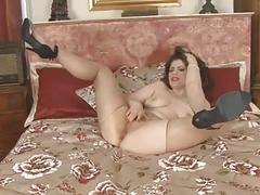 Sheer pantyhose masturbation