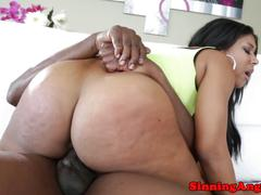 Ebony megan vaughn riding on his cock