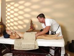 Unique masturbation of special tricky spa  feature