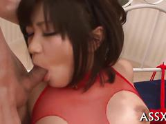 Horny asian babe gets her pussy fucked and licked