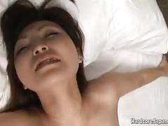 Cute japanese getting creamed after hardcore fucking