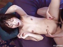 Smiling asian slut gets banged