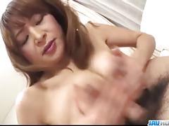 Busty hikaru wakabayashi goes wild on a tasty dong