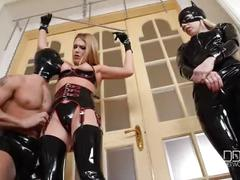 hardcore, threesome, deepthroat, high-heels, latex, ass-licking, fetish, bondage, orgasm, russian, lucy, femdom, heart, cum-in-mouth, nesty, anal-sex