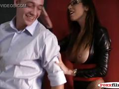 big-tits, boss, pegging, femdom, office, strap-on