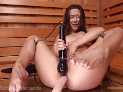 Power fucking a squirting beauty