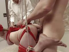 Big ass blond turned into puppet for rough anal destruction / painal / atm