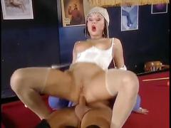 hardcore, vintage, threesome, double penetration, retro, 3some, doggy-style, ass-fucking, anal, raw, big-dick, blonde, brunette, dp, reverse-cowgirl, shaved-pussy, uniform, stocking, high-heels