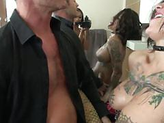 Deep dirty threesome with skin diamond and bonnie rotten