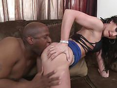 Interracial ass fucking for brunette jennifer white
