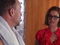Locker room fucking with teacher krissy lynn