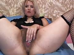 anal, pussy, blonde, fingering, curvy, hairy, fishnet, solo, bigass, webcam, cam, cams
