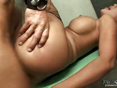anal, brunette, stocking, jail