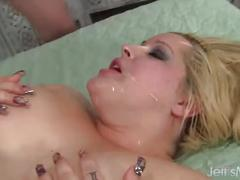 Horny blonde bbw star staxxx gets gangbanged