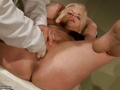 Young blonde gets painfully punished by her doctor