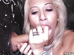 cristi ann, blowjob, big tits, blonde, busty, oral, cock, cock suck, sucking, gloryhole, dick suck