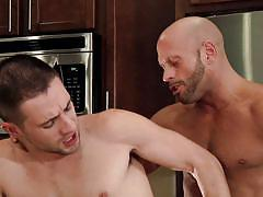 tattooed, gays, from behind, pov, anal gay, bald gay, gay rimjob, on the table, in kitchen, drill my hole, men, coby mitchell, dylan knight