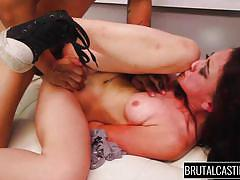Slutty mandy entertains her casting partner