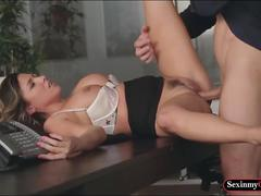 Busty danica dillon sends her worn panties to her coworker