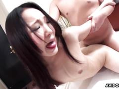 Asian floozy getting fucked by a rich guy